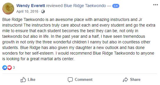 Kids 3, Blue Ridge TaeKwonDo